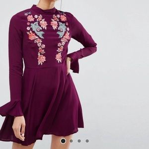 ASOS embroidered dress